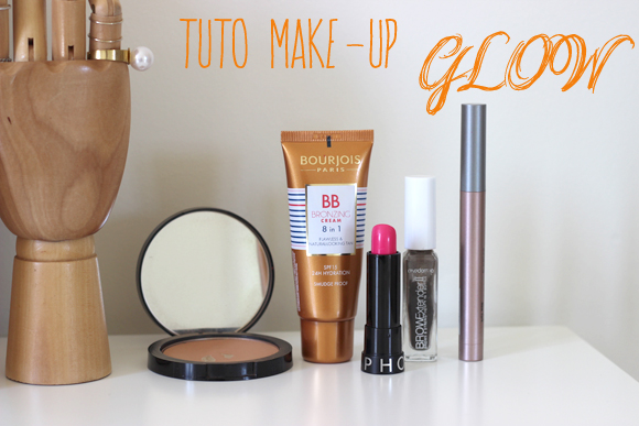 tuto make up glow ete