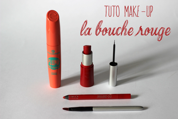 tuto make up la bouche rouge