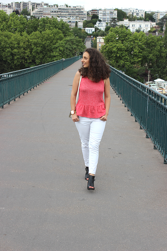 look top a basques jeans blanc