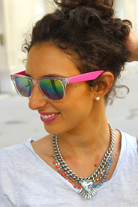 lunette-primark-collier-h&m-top-diy