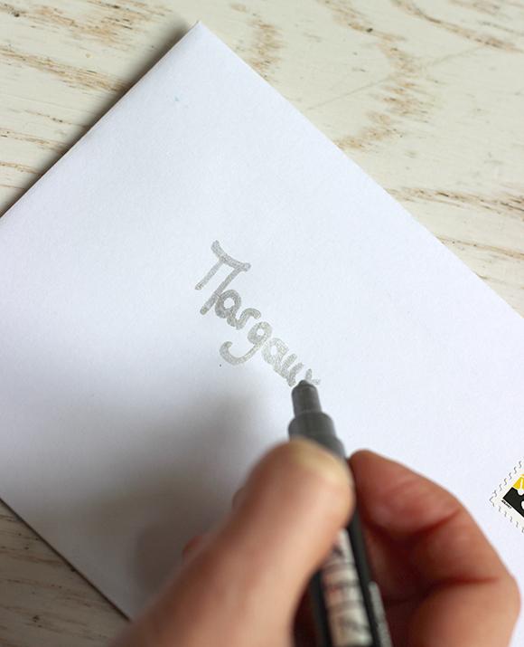 ecrire sur les enveloppes
