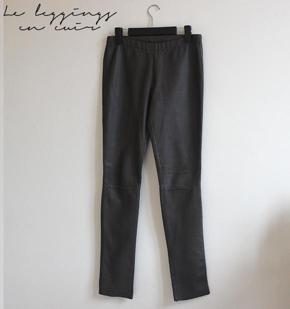 le leggings en cuir