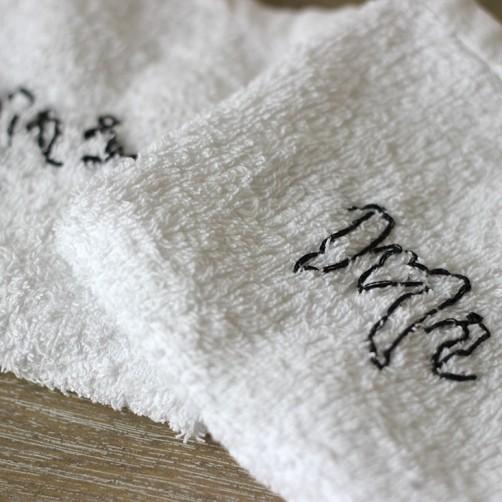 DIY : Des serviettes brodées Mr et Mrs