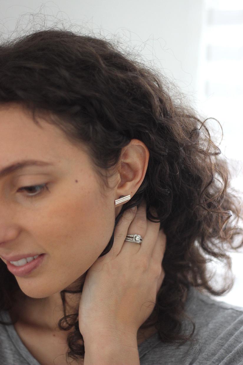 boucle d oreille barre diy
