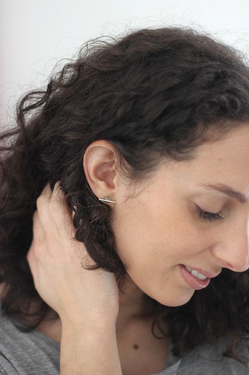 boucle d oreilles diy metal geometrique facie