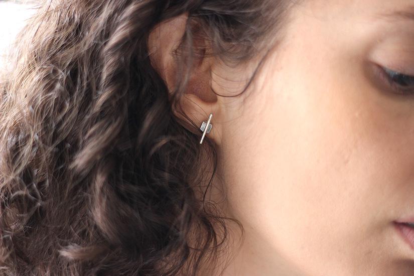 des boucles d oreilles gemetriques diy
