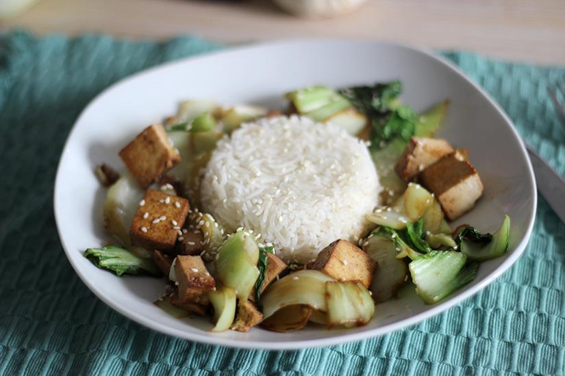 pack choi un plat healthy veggie rapide