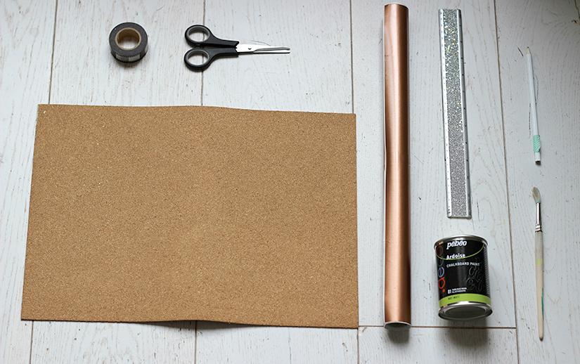 Materiel pour tapis de souris cuivre et ardoise