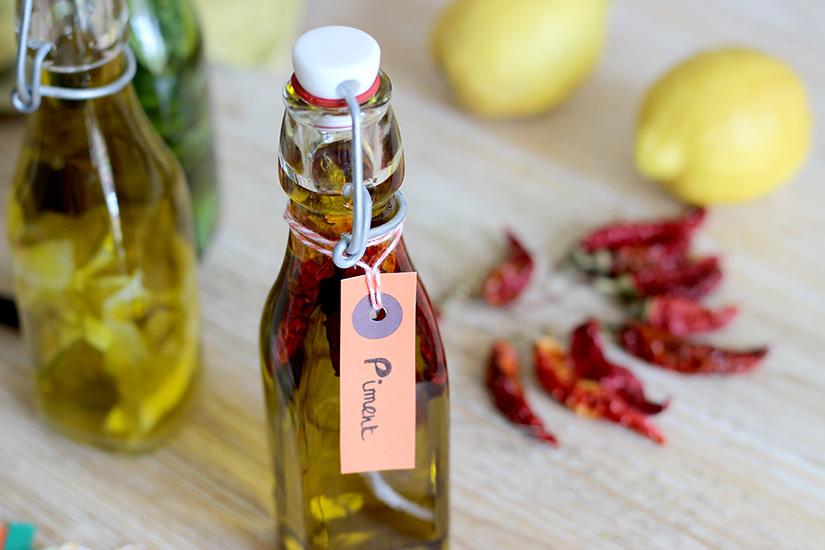 huile aromtisee au piment