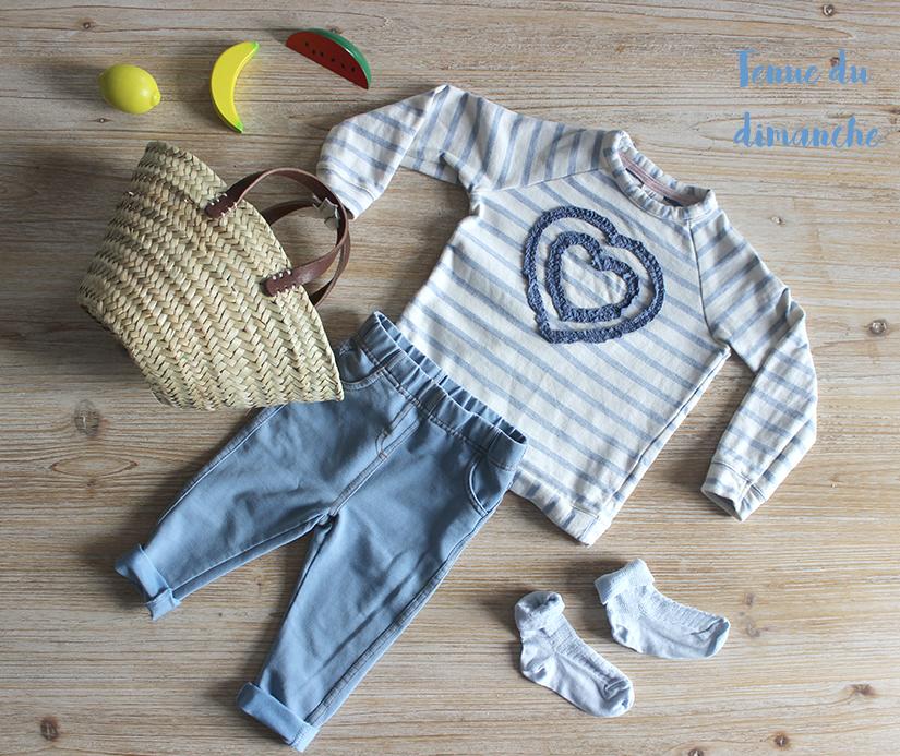 leggins jeans hetm panier pour bebe