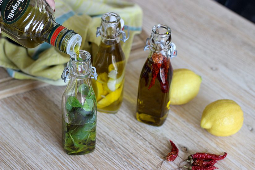 remplir les bouteilles d huile diy