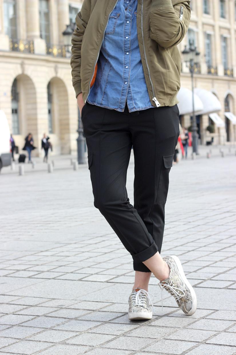 pantalon cargo mango blog mode paris place vendome