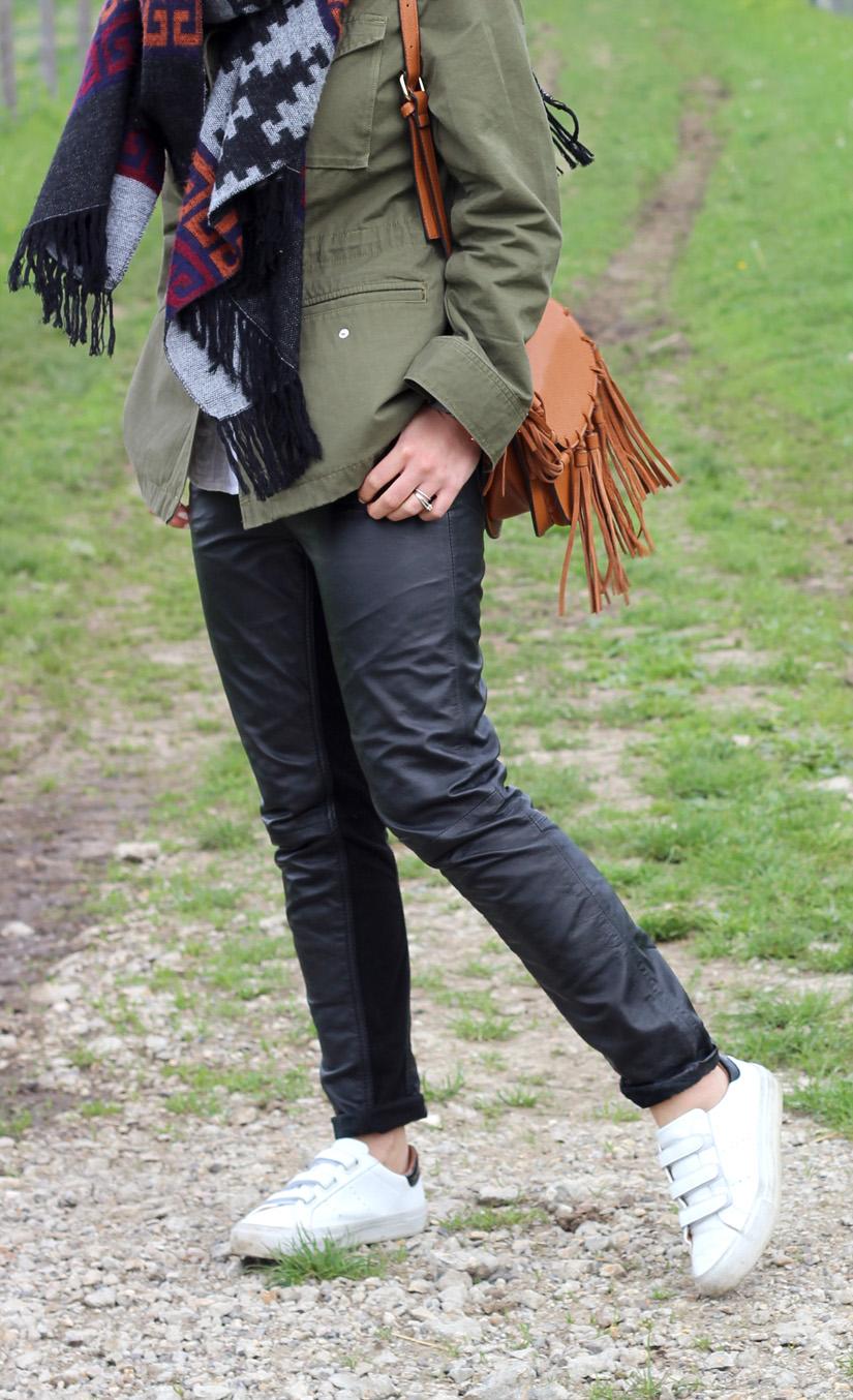 pantalon cuir la redoute