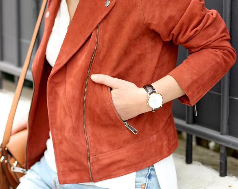 veste en daim levis sur videdressing montre daniel wellington