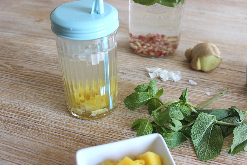 detox water coco ananas gingembre