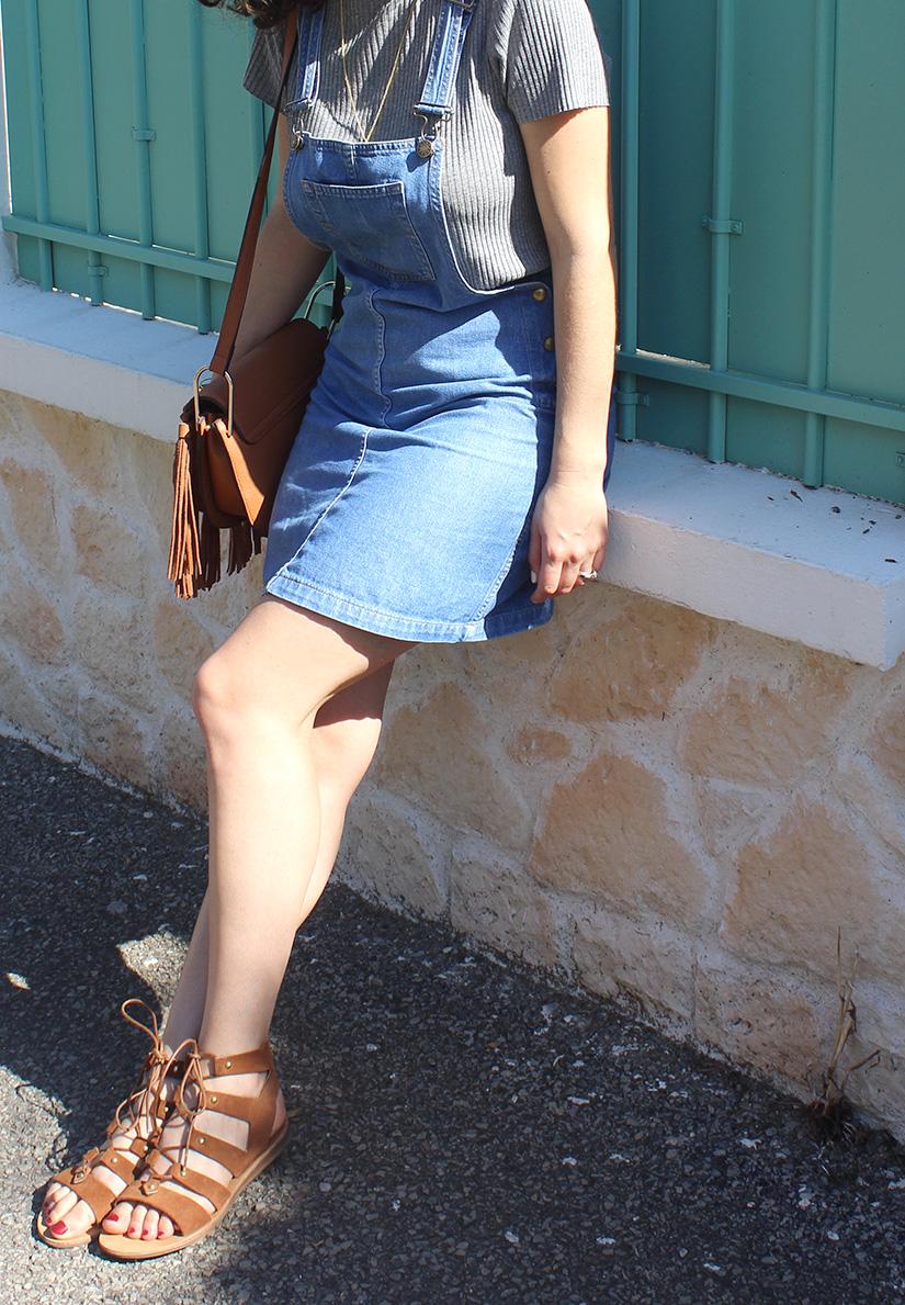 robe en jeans spartiates sacha