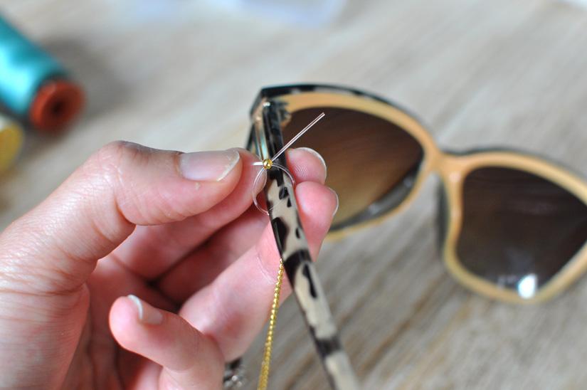 fabriquer une chaine a lunettes diy