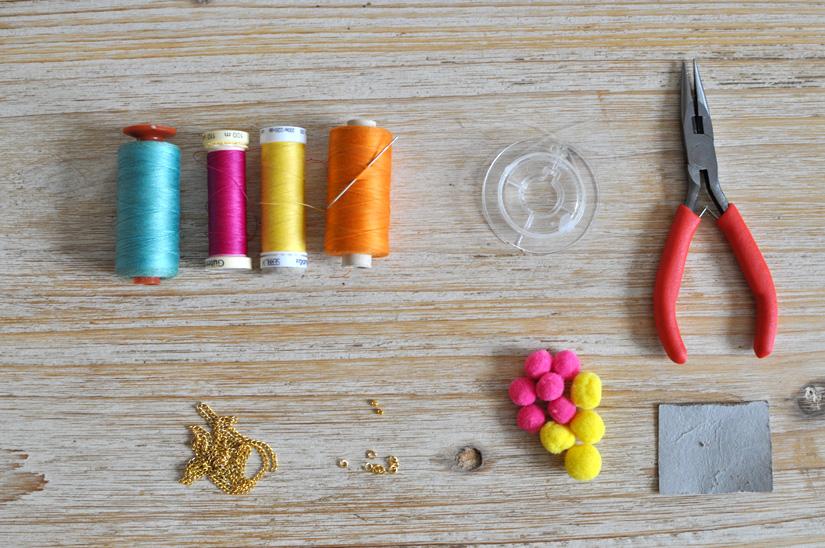 materiel pour personnaliser une chaîne de lunettes