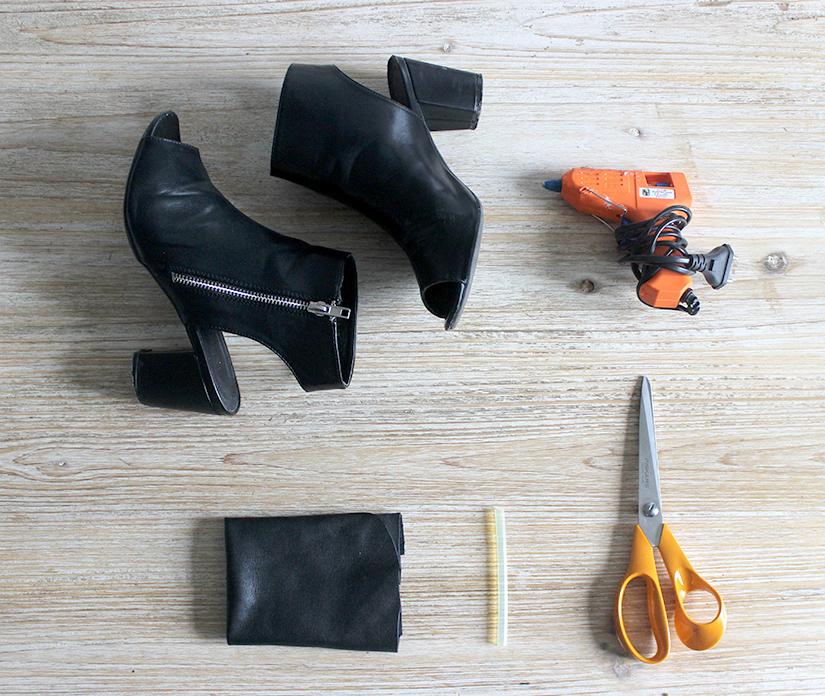 relooker des chaussures avec des franges