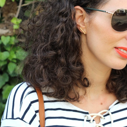 DIY : Le top à lacets oeillets