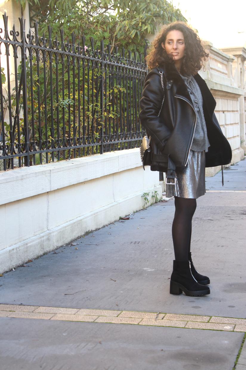 look la jupe plissee