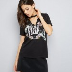 black-choker-neck-bird-print-t-shirt