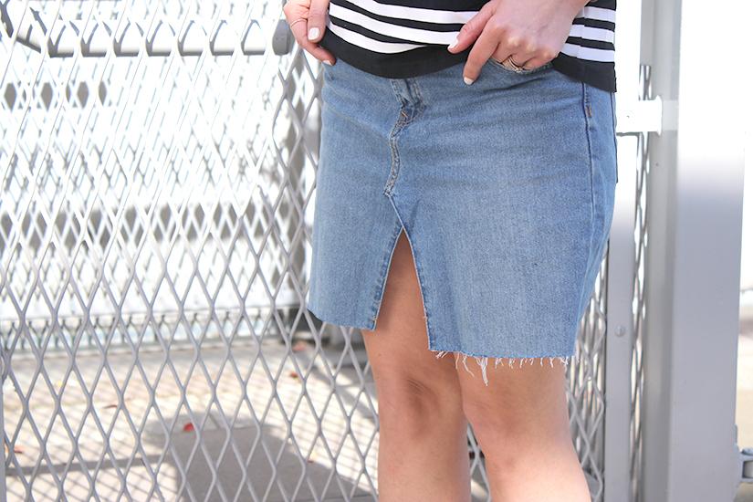 jupe en jeans diy transformation jeans