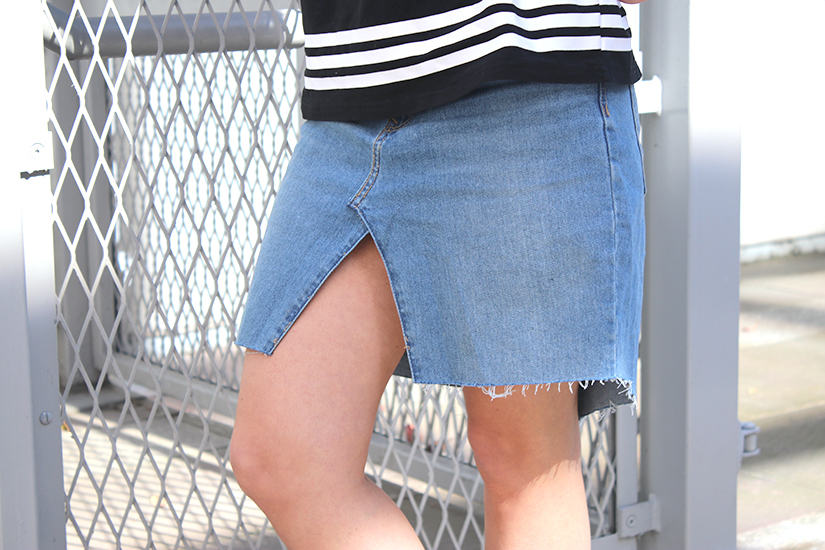 look jupe en jeans diy