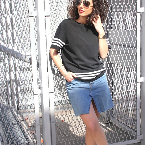 DIY : Le jean relooké en jupe