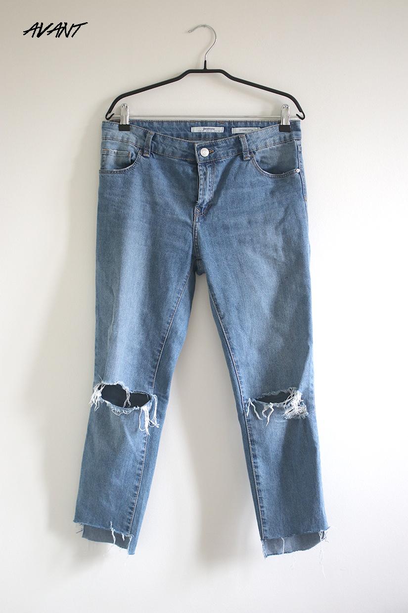 un jeans avant