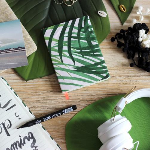 DIY : Le carnet tropical en tissu