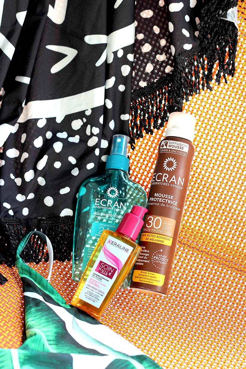 essentiels d ete creme solaire après soleil huile cheveux