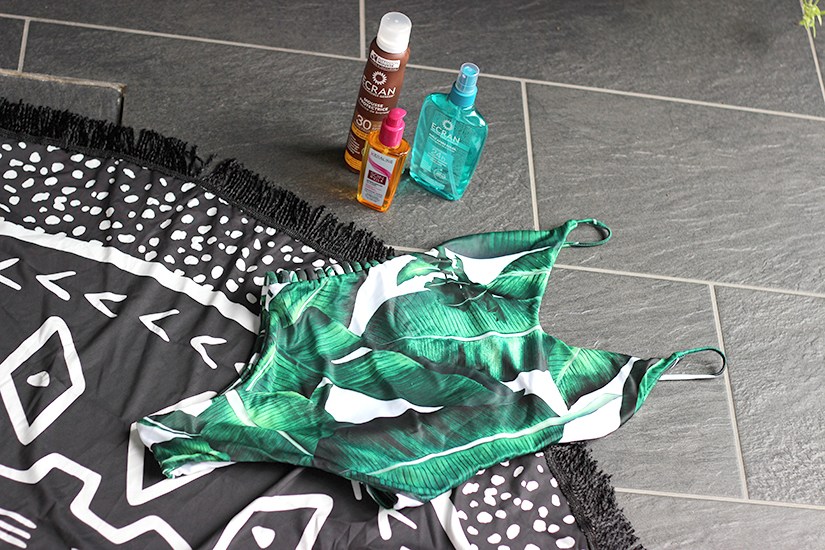 maillot de bain zaful palmier