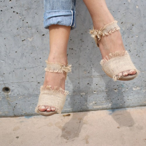 DIY : Les Chaussures en  jute