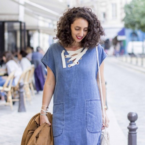 DIY : La robe en jeans lace-up