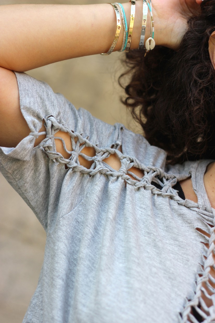 tee shirt macrame like june sixty five diy