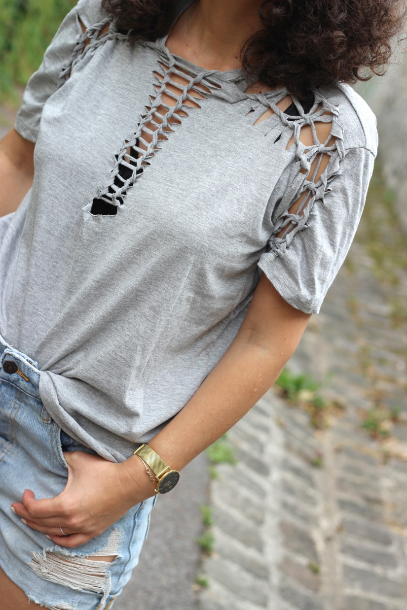 tee shirt macrame refashion diy
