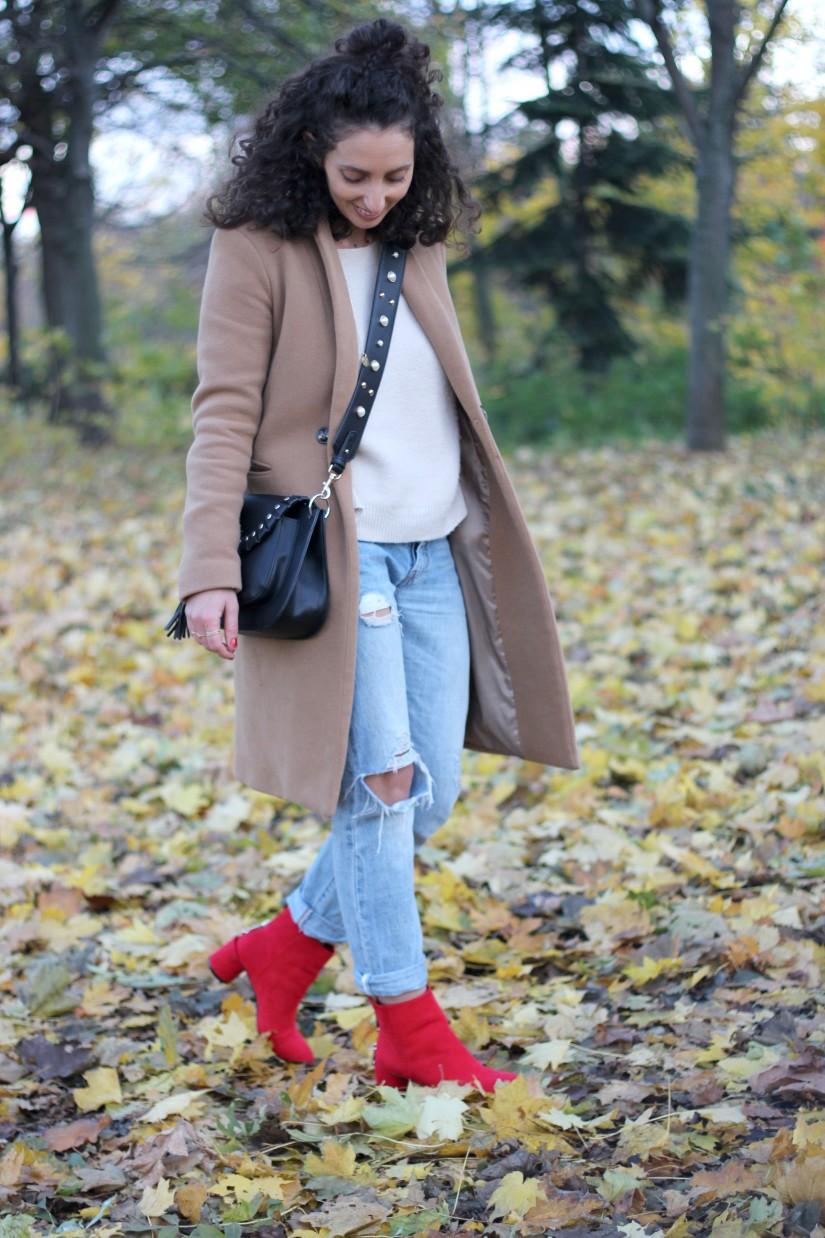 look en boots rouge