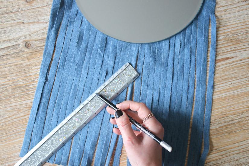 Etape 4 miroir facon tissage