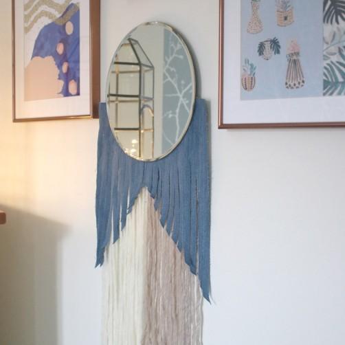 DIY  : Le miroir version tissage