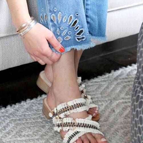 DIY : Les sandales à franges