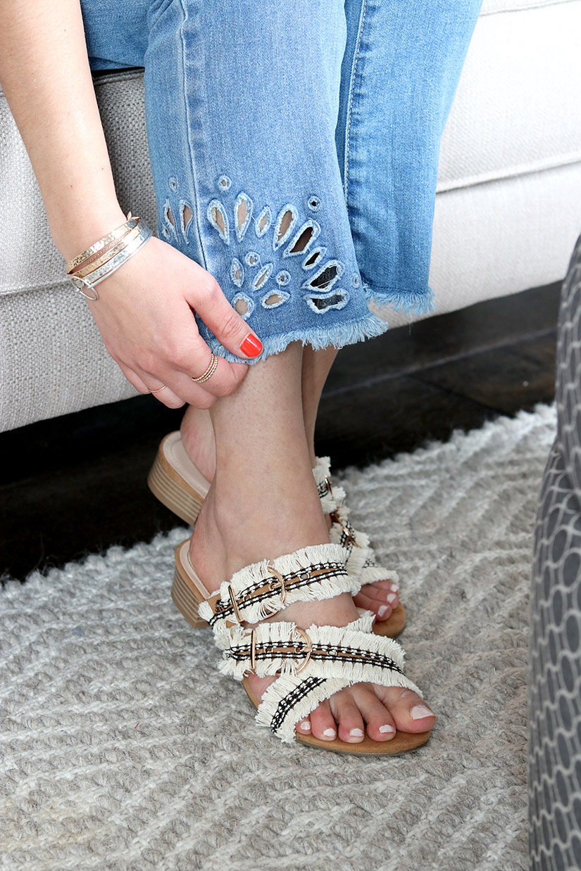 custo sandales franges