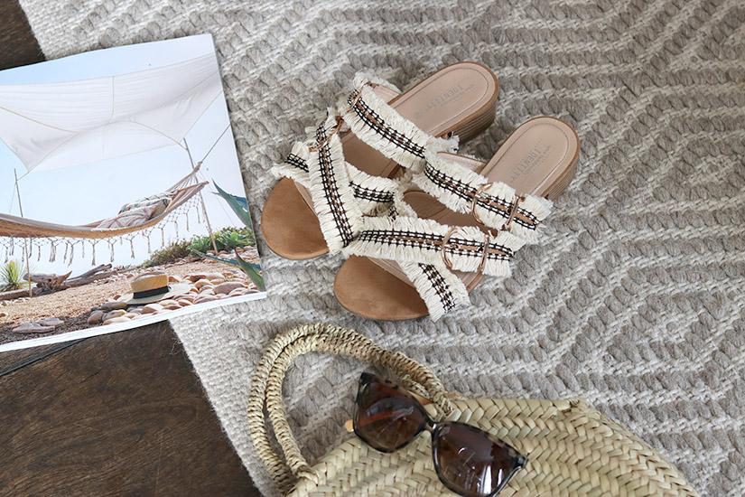 les sandales ethniques diy
