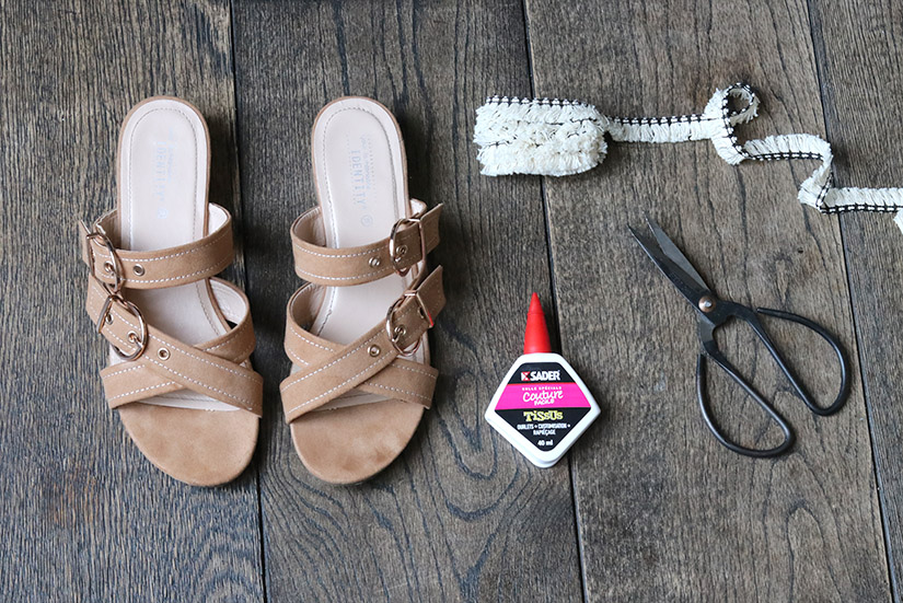 materiel custo sandales