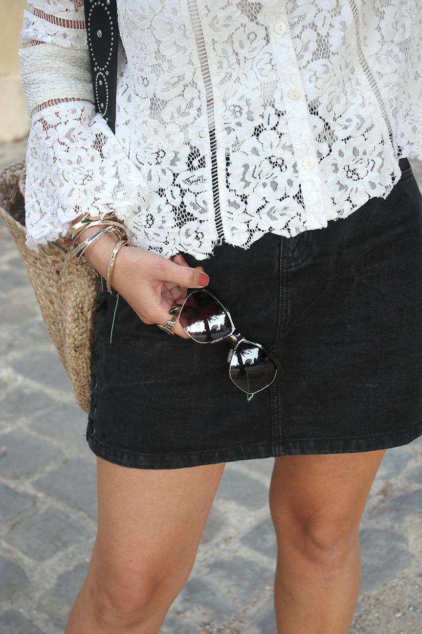 la jupe en jeans