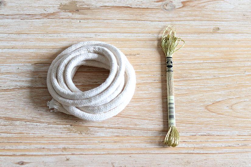 materiel pour une ceinture en corde