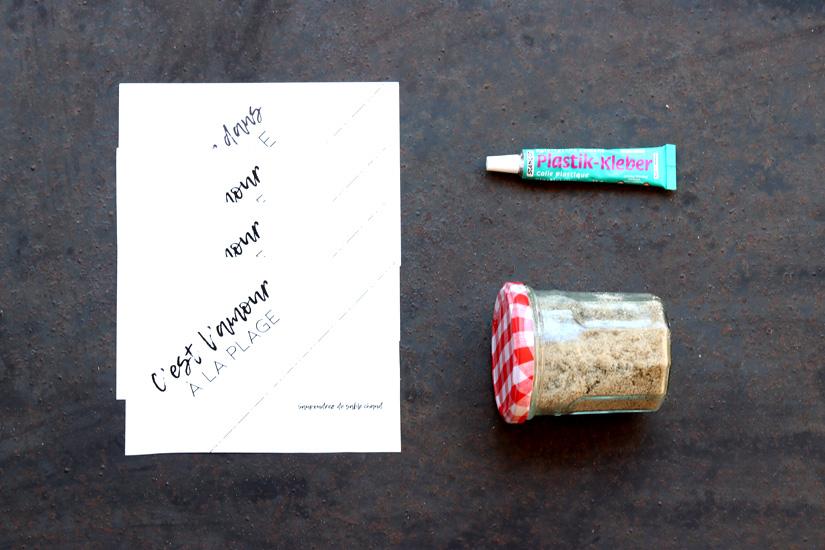 carte postale sable