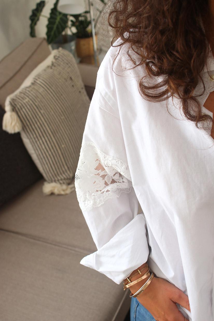 chemise dentelle blanche diy ilovediy