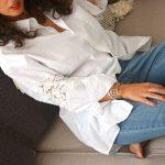 DIY : La chemise blanche dentelle