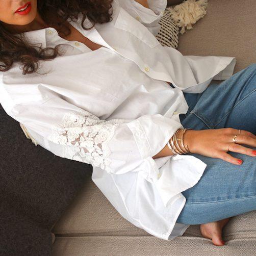 DIY : La chemise dentelle
